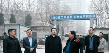 博山区区委书记刘忠远一行到市重点工程项目万杰康复医院建设现场调研